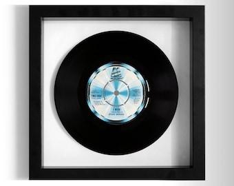 "Stevie Wonder ""I Wish"" Framed 7"" Vinyl Record"