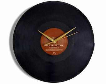 """Usher """"Burn"""" Vinyl Record Wall Clock"""