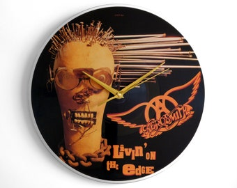 "Aerosmith ""Livin' On The Edge"" Vinyl Record Wall Clock"