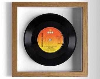 """Barbra Streisand """"A Star Is Born (Evergreen)"""" Framed 7"""" Vinyl Record"""