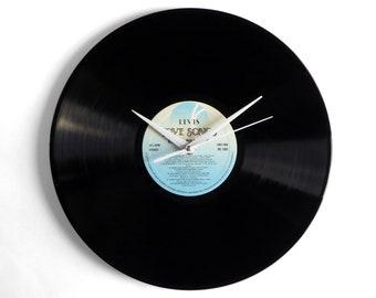 "Elvis Presley ""Love Songs"" Vinyl Record Wall Clock"
