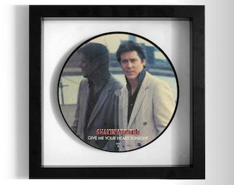 "Shakin' Stevens ""Give Me Your Heart Tonight"" Framed 7"" Vinyl Record"