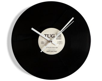 """Right Said Fred """"I'm Too Sexy"""" Vinyl Record Wall Clock"""