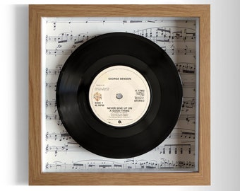"George Benson ""Never Give Up On A Good Thing"" Framed 7"" Vinyl Record"