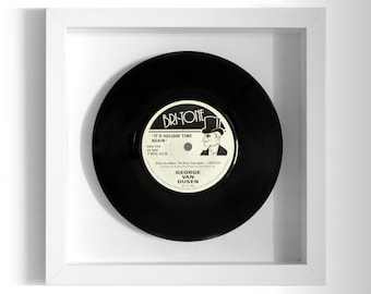 "George Van Dusen ""It's Holiday Time Again"" Framed 7"" Vinyl Record"