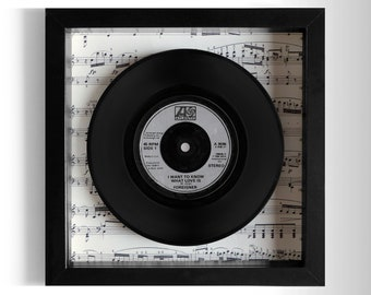 """Foreigner """"I Want To Know What Love Is"""" Framed 7"""" Vinyl Record"""