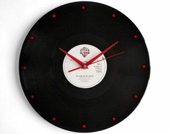 """Rod Stewart """"Rhythm Of My Heart"""" Vinyl Record Wall Clock"""