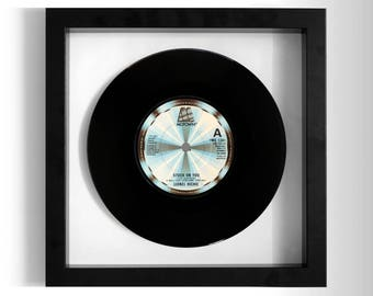 "Lionel Richie ""Stuck On You"" Framed 7"" Vinyl Record"