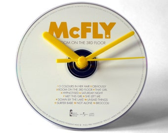 """McFly """"Room On The 3rd Floor"""" CD Clock and Keyring Gift Set"""