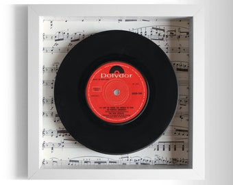 "The New Seekers ""I'd Like To Teach The World To Sing (In Perfect Harmony)"" Framed 7"" Vinyl Record"
