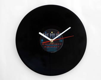 "The Police ""Don't Stand So Close To Me"" Vinyl Record Wall Clock"