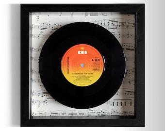 "Bruce Springsteen ""Dancing In The Dark"" Framed 7"" Vinyl Record"