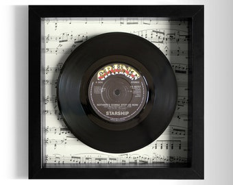 "Starship ""Nothing's Gonna Stop Us Now"" Framed 7"" Vinyl Record"