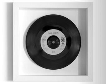 "Sam Brown ""Stop"" Framed 7"" Vinyl Record"