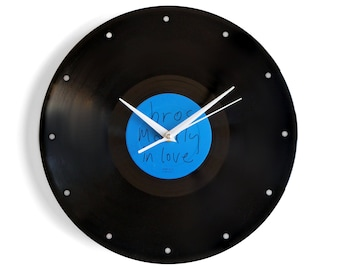 "Bros ""Madly In Love"" Vinyl Record Wall Clock"