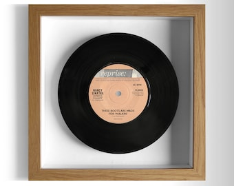 "Nancy Sinatra ""These Boots Are Made For Walkin'"" Framed 7"" Vinyl Record"
