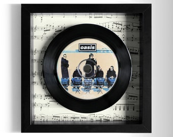 "Oasis ""Roll With It"" Framed CD"