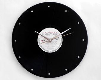 """Simply Red """"A New Flame"""" Vinyl Record Wall Clock"""