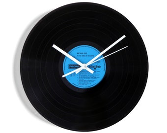 """Nat King Cole """"To The Ends Of The Earth"""" Vinyl Record Wall Clock"""
