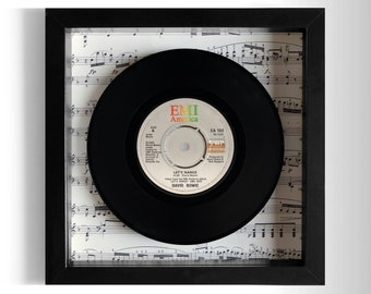 "David Bowie ""Let's Dance"" Framed 7"" Vinyl Record"
