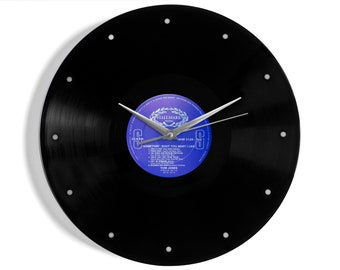 "Tom Jones ""Somethin' 'Bout You Baby I Like"" Vinyl Record Wall Clock"