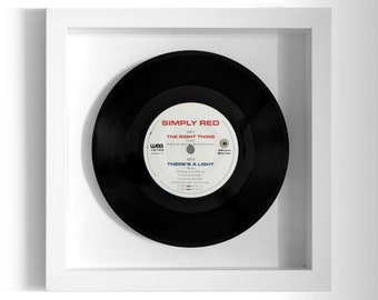 """Simply Red """"The Right Thing"""" Framed 7"""" Vinyl Record"""