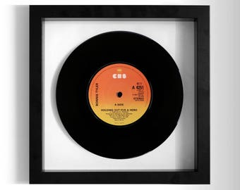 """Bonnie Tyler """"Holding Out For A Hero"""" Framed 7"""" Vinyl Record"""