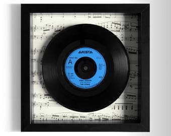 "The Kinks ""Come Dancing"" Framed 7"" Vinyl Record"