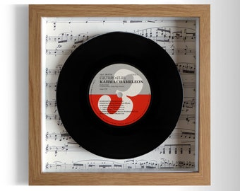 "Culture Club ''Karma Chameleon'' Framed 7"" Vinyl Record"