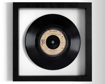 "Eric Clapton ""I Shot The Sheriff"" Framed 7"" Vinyl Record"