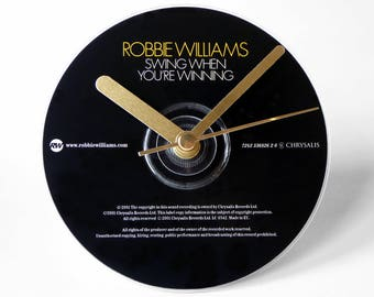 """Robbie Williams """"Swing When You're Winning"""" CD Clock and Keyring Gift Set"""