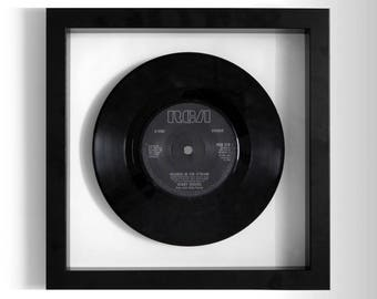 """Kenny Rogers & Dolly Parton """"Islands In the Stream"""" Framed 7"""" Vinyl Record"""