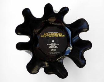 """Bed & Bondage """"Don't Take The Mick"""" Vinyl Record Bowl"""