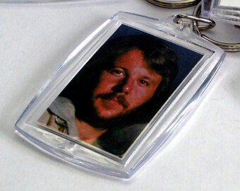 ABBA Keyring from Vintage Vinyl Record Sleeves