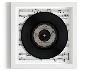 """Bee Gees """"How Deep Is Your Love"""" Framed 7"""" Vinyl Record"""