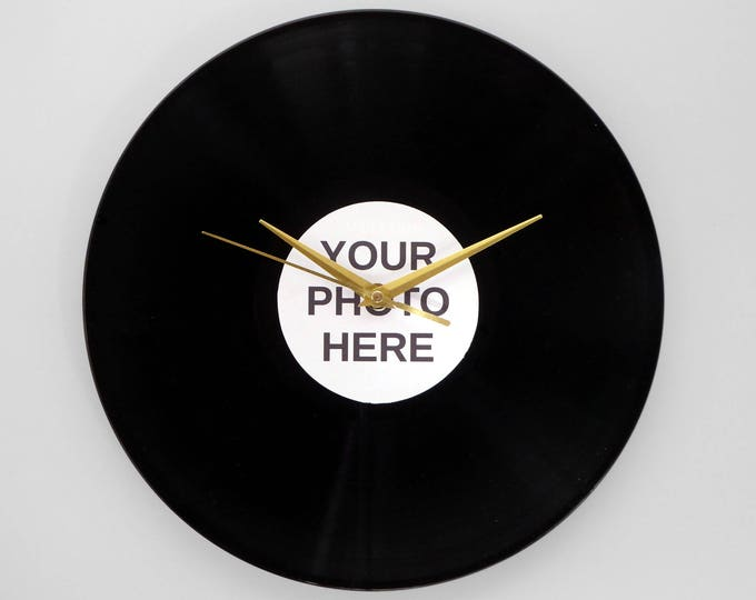 Featured listing image: Personalised Vinyl Record Wall Clock