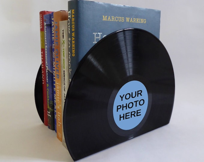Featured listing image: Personalised Vinyl Record Bookends