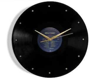 """Bryan Ferry """"The Ultimate Collection"""" Vinyl Record Wall Clock"""