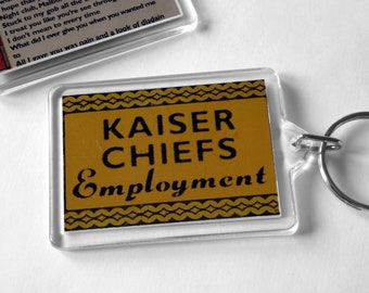 The Kaiser Chiefs Keyring from CD Booklet