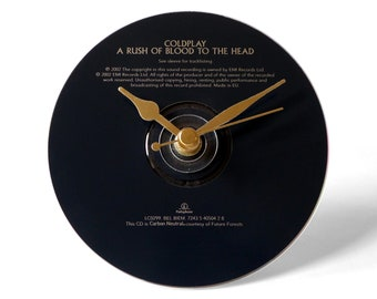 """Coldplay """"A Rush Of Blood To the Head"""" CD Clock and Keyring Gift Set"""