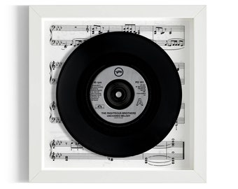 """The Righteous Brothers """"Unchained Melody"""" Framed 7"""" Vinyl Record"""