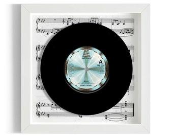 "Lionel Richie ""Hello"" Framed 7"" Vinyl Record"