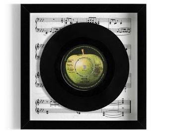 """John Lennon """"Imagine"""" Framed 7"""" Vinyl Record"""