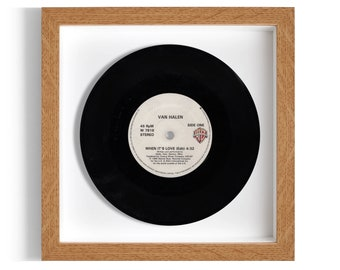 """Van Halen """"When It's Love"""" Framed 7"""" Vinyl Record"""
