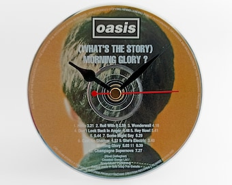"""Oasis """"(What's The Story) Morning Glory ?"""" CD Clock and Keyring"""