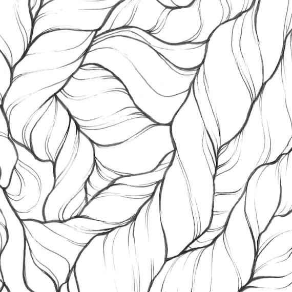 Original Artwork Hairy Things Ink Illustration Wall Art Trippy Etsy