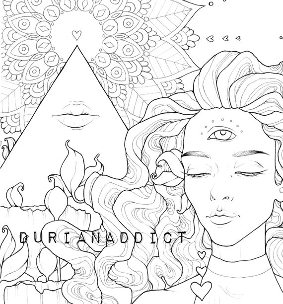 - Trippy Chicks DIGITAL Coloring Pages Printable Coloring Book Etsy