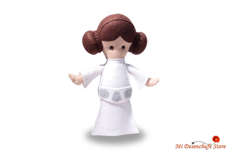 Princesa Leia Fieltro 3D Muñeco de fieltro Star Wars Felt | Etsy
