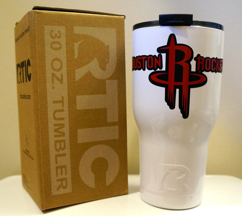 big sale 4b579 8dab8 Houston Rockets Inspired RTIC Tumbler