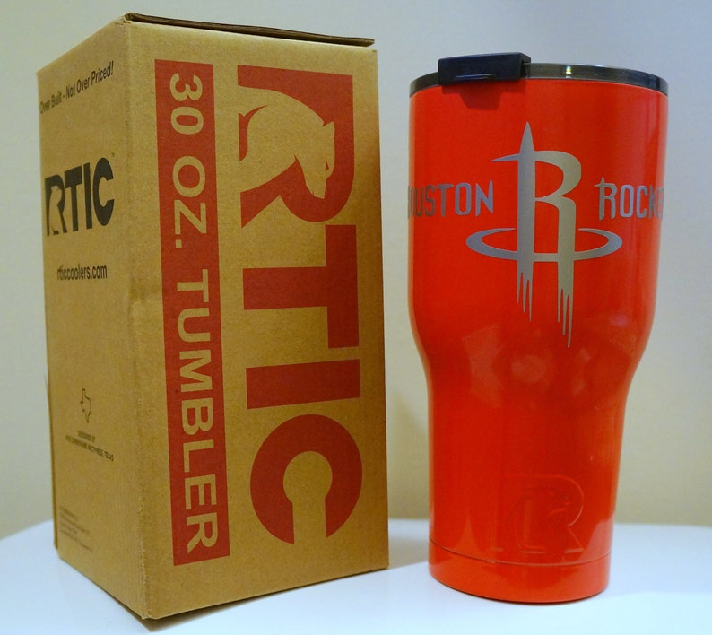 the latest 89c97 bbc23 Houston Rockets Inspired Red RTIC Tumbler